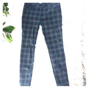 Plaid skinny jeans